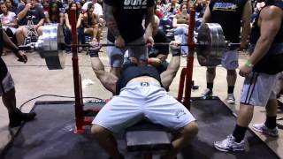 Garrett GUNZ 500lb raw bench @208bw 2012 Ronnie Coleman