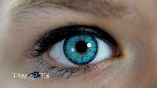 Blue Color Contact Lenses for brown eyes / Niebieskie soczewki kolorowe PartyEye BT SKY