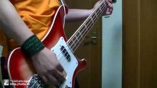 初投稿 ベースで弾いてみました 弾いてて楽しいベースラインです.