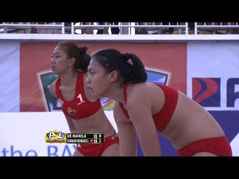 UE MANILA VS. STANDARD INSURANCE NAVY A - SET 1   PSL Beach Volleyball 2016