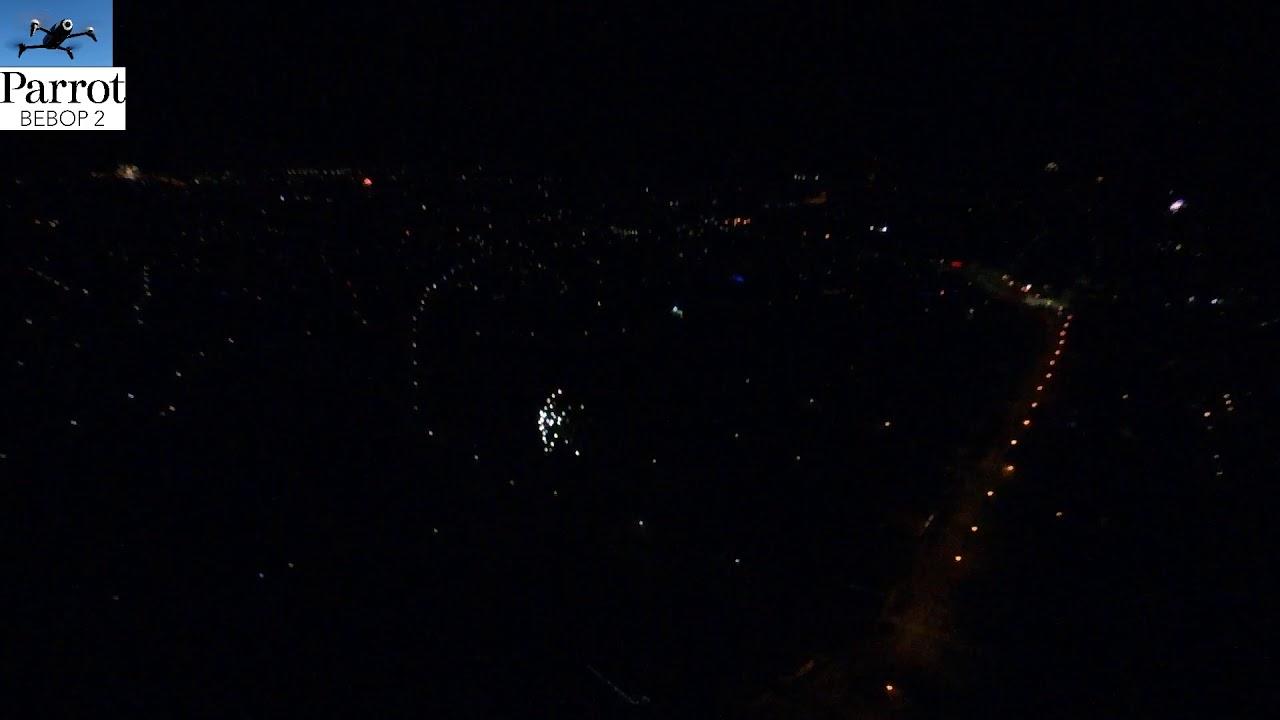 Jászberény Fireworks New year Drone video
