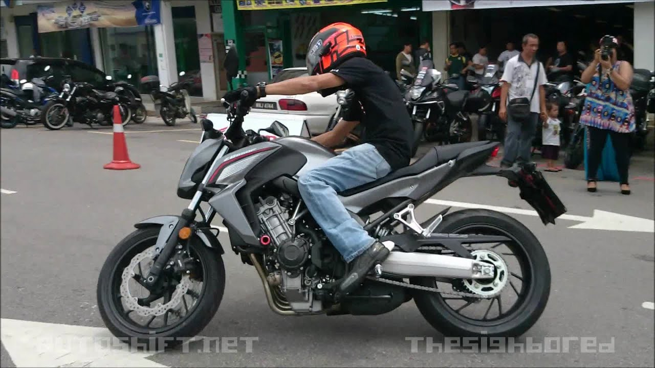 Honda CB650F brief test ride - YouTube