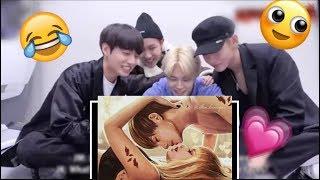 BTS reaction on ■ LizKook Fan made Video (Edit) Blackpink