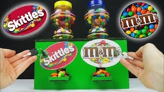 How to Make M&M's Chocolate and Skittles Candy Machine With Key and Lock