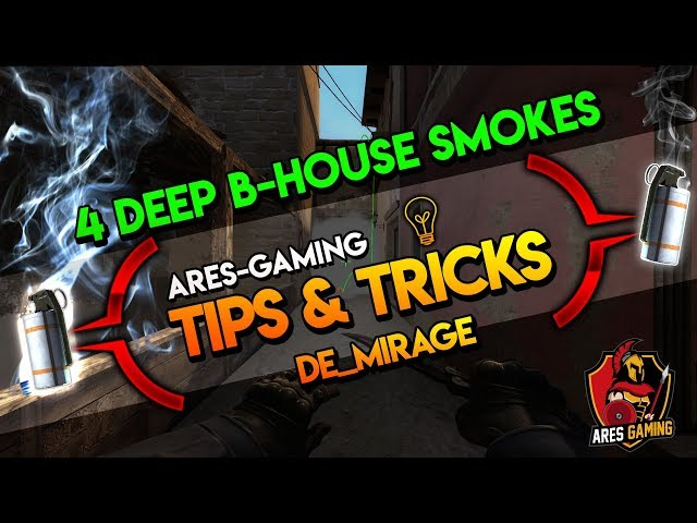 Tips & tricks: DE_MIRAGE 4 DEEP B-HOUSE SMOKES  CS:GO [2019 by ares-gaming
