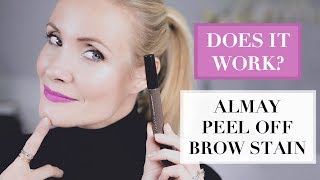 Does it work? Almay Peel Off Brow Stain | First Impression | Liv Judd