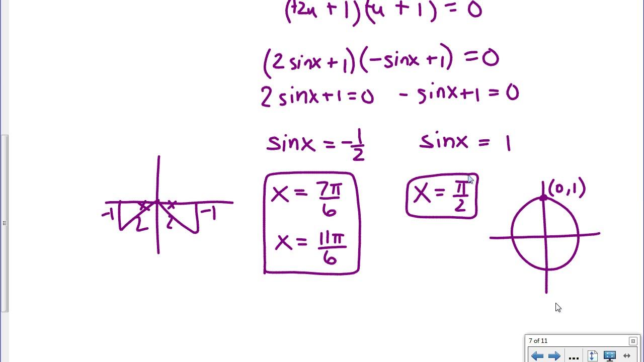 [IB Math SL] Exam Review: Solving Trig Equations