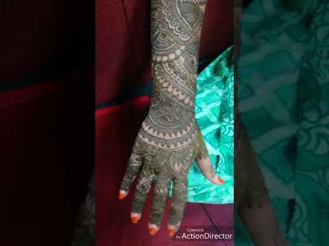 Bridal Mehndi Nj : Bridal mehndi by nj shajghor youtube