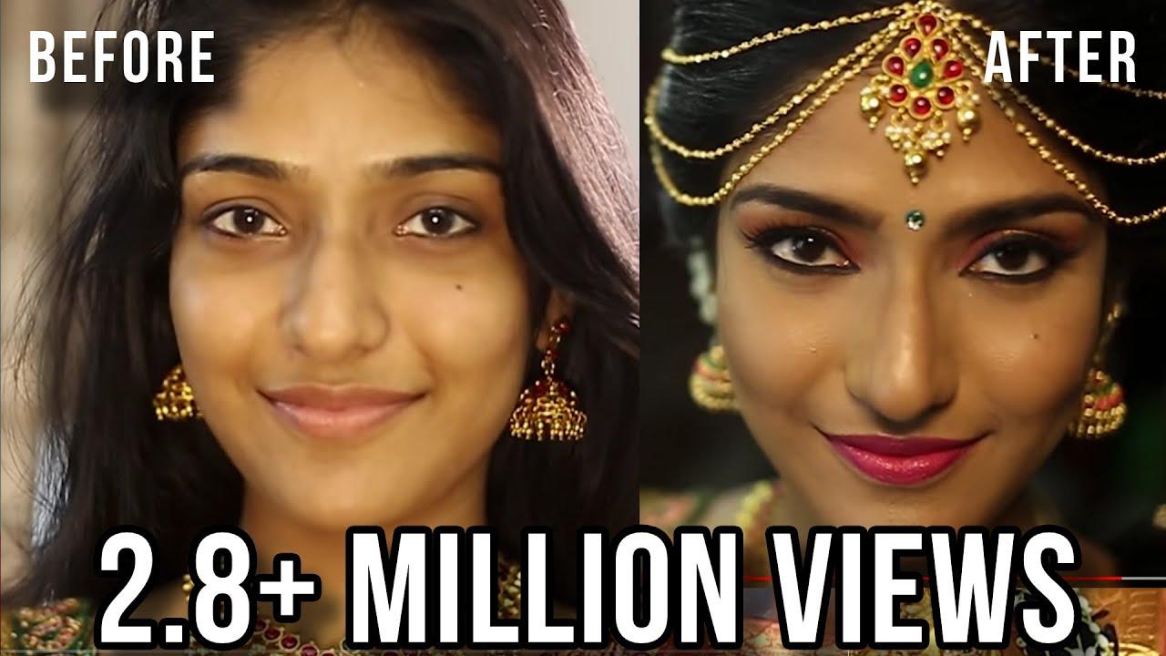 SOUTH INDIAN BRIDAL MAKEUP LOOK | MUGURTHAM MAKEUP | MAKEUP BY ...