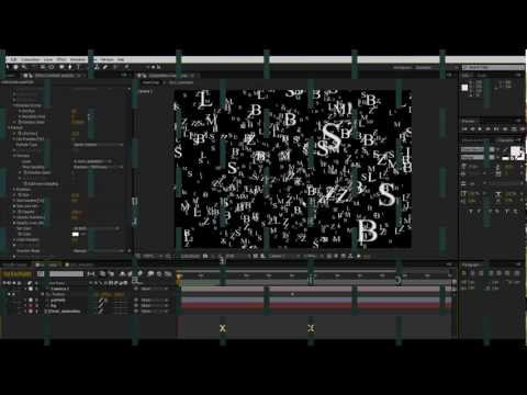 AE Trapcode Particular - Flying Text - Part I.mov