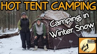 HOT TENT WINTER CAMPING: Wiฑter Camping in Snow: Hot Tenting in a Luxe Hot Tent Hot Tent Wood Stove