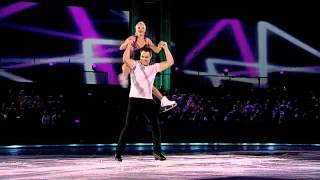 "Elena Berezhnaya and Curtis Leschyshyn skate to ""Give Me Everything"" by Pitbull to avoid elimination"