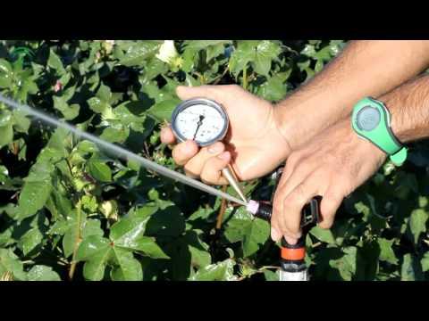 La presión en un sistema de riego por aspersión