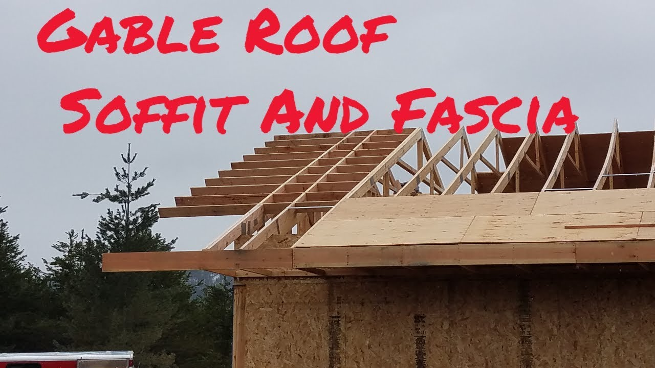 Gable Roof Soffit And Fascia Youtube