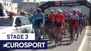 Volta a Catalunya 2018 | Stage 3 Highlights + Winner's Interview | Cycling | Eurosport