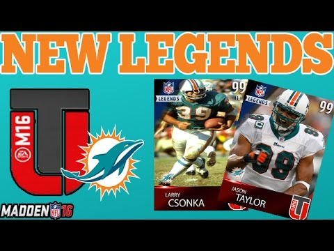 NEW MUT 16 LEGENDS | DOLPHINS FT. JASON TAYLOR | MADDEN 16 ULTIMATE TEAM