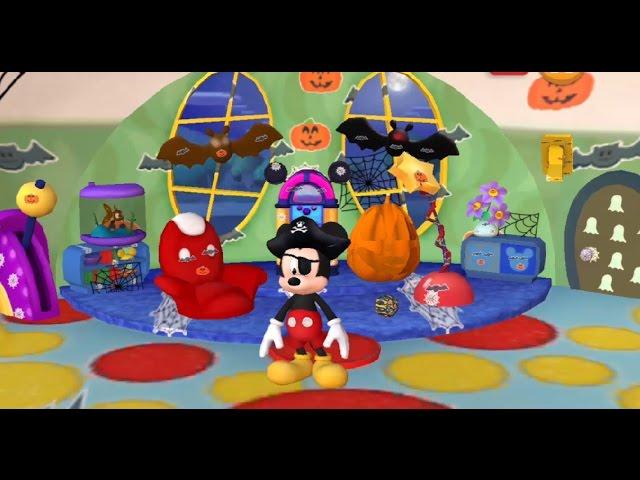 Mickey Mouse Halloween In Clubhouse Paint And Play Starring