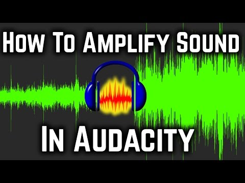 How To Amplify / Increase Volume Of Audio In Audacity Tutorial