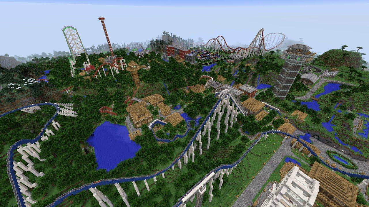 minecraft amusement park map