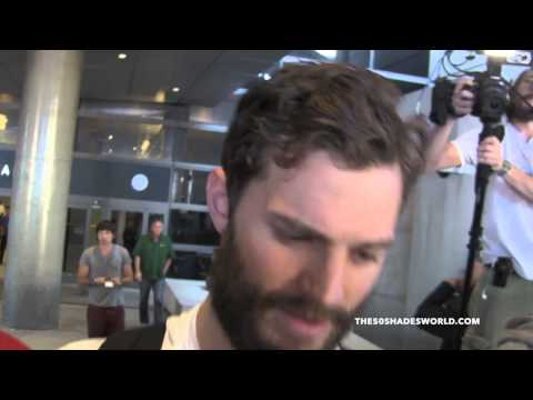 January 6th, 2015 - JAMIE DORNAN arrives at LAX Airport in Los Angeles #1