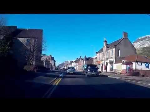 Morning Drive Through Alva Clackmannanshire Central Scotland