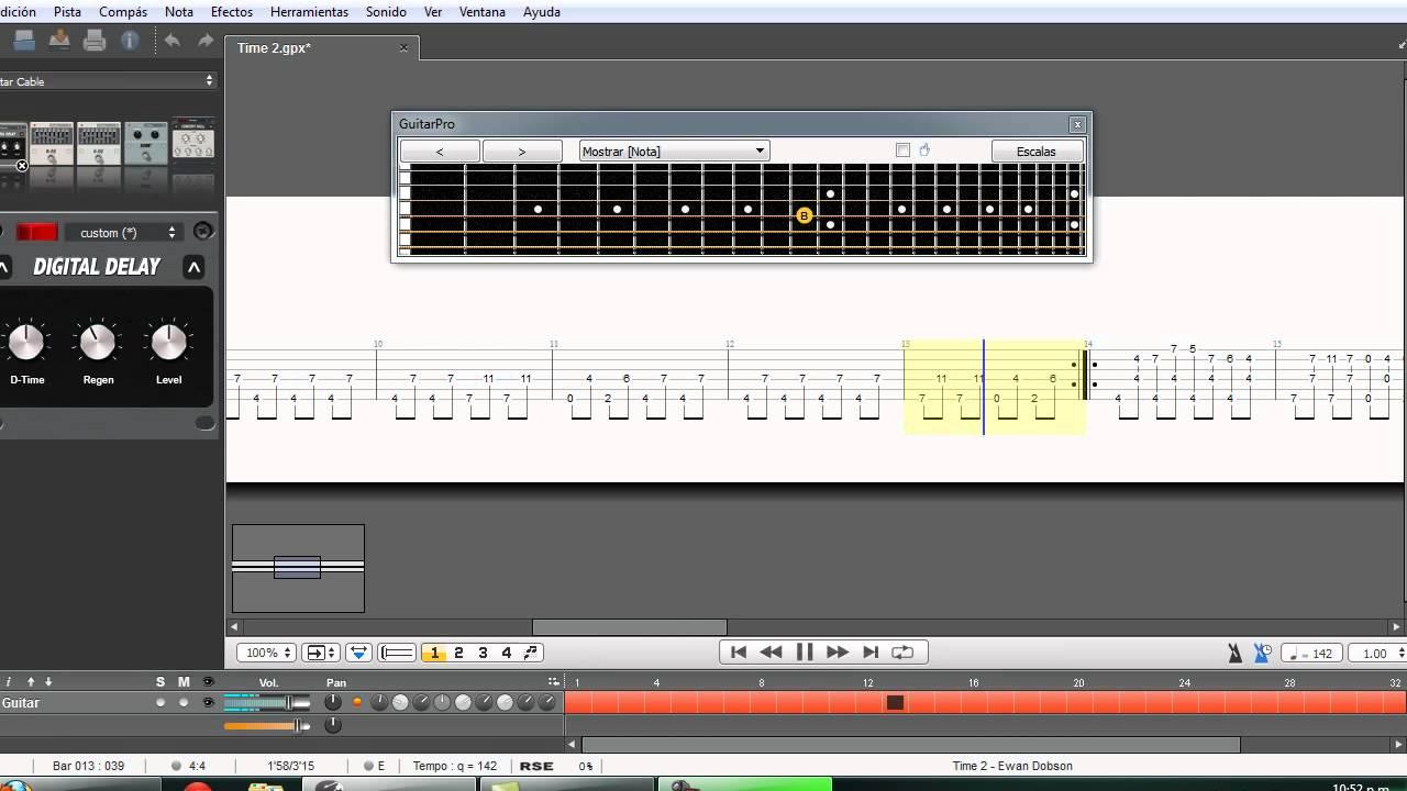 lesson guitar pro: