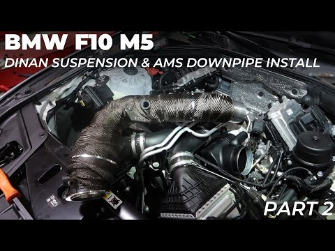 bmw-f10-m5:-dinan-suspension-&-ams-downpipe-install---part-2