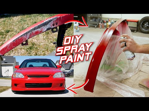Spray Painting A Bumper LIP For Under $100 With PRO Results! | Honda Civic Project