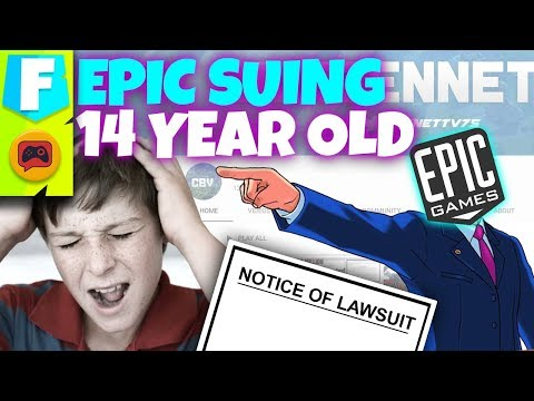 Fortnite Lawsuit Against ANOTHER 14-Year Old is Kinda Funny