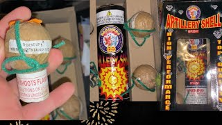 Lighting Off Brothers Artillery Shell Fireworks!