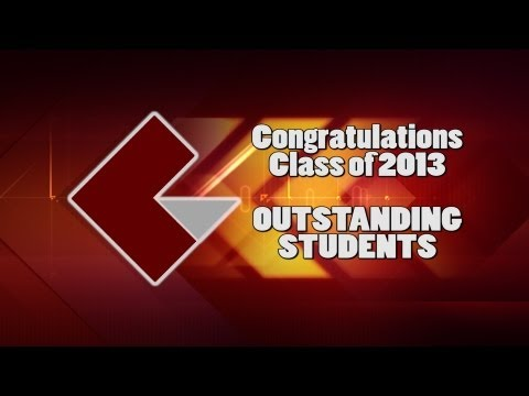 2013 Cuyahoga Valley Career Center Outstanding Students