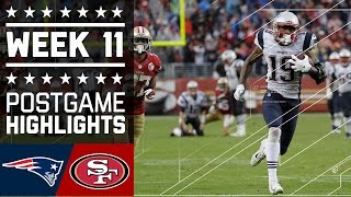 Patriots vs. 49ers | NFL Week 11 Game Highlights