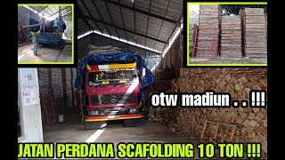 TRUCK MERCY 1417 PERDANA MUAT SCAFOLDING 10 TON JOGJA - MADIUN !!!