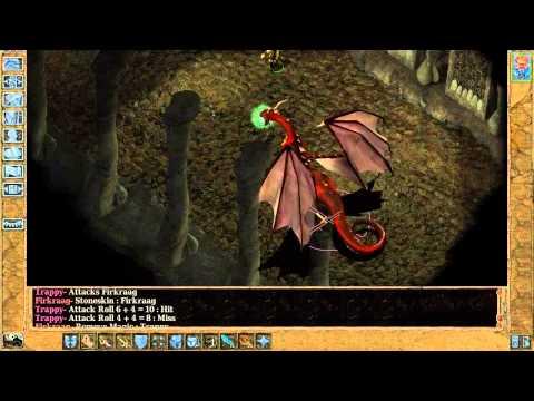 Baldur's Gate 2 Monk solo part 37  : Firkraag the Red Dragon