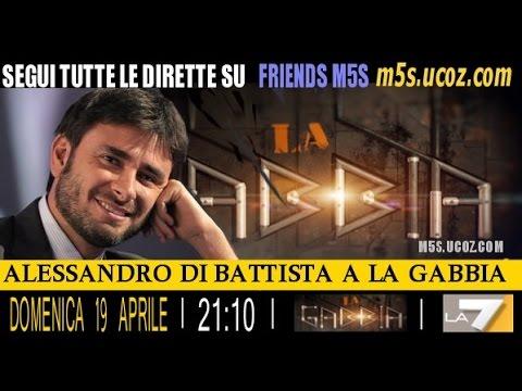 Alessandro di battista la gabbia 19 04 2015 youtube for Youtube la gabbia