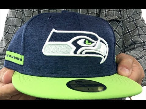 a5c0658a Seahawks 'HOME ONFIELD STADIUM' Navy-Lime Fitted Hat by New Era