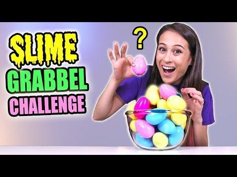 SLIJM INGREDIËNTEN GRABBELEN CHALLENGE! || Slime Sunday