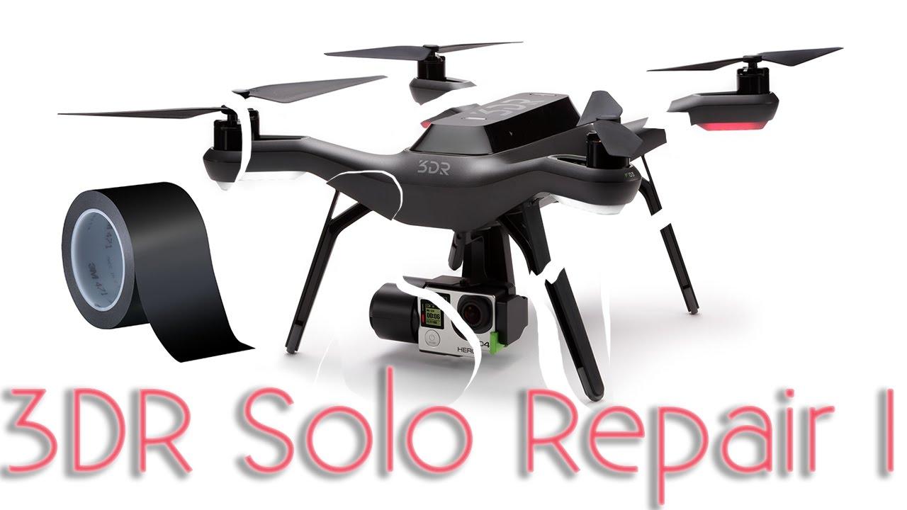 Crashed High End Quadcopter repair - 3DR Solo - Part 1