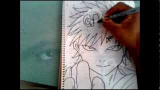 HOW TO DRAW TO GAARA DE NARUTO XDB