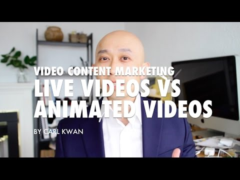 Video Content Marketing - Live vs Animated Videos