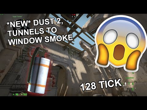 *UPDATED* 2 NEW DUST 2 TUNNEL TO WINDOW SMOKES