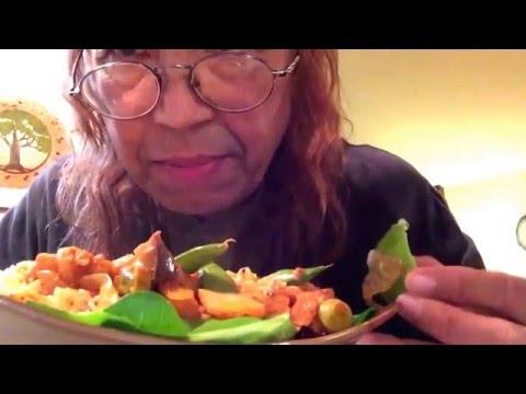 Homemade spicy veggie stir fry, brown rice, Xmas photo memories, CDs, Logos mini blooper reel asmr