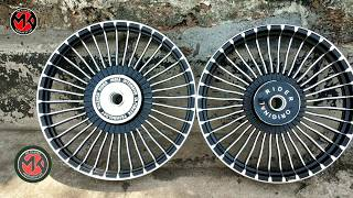 Royal Enfield 350 | Alloy Wheels Installing | 36 Spokes Alloy Wheels |
