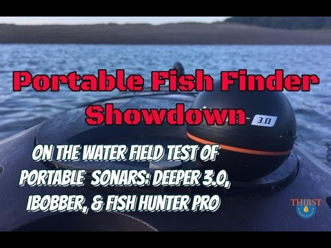 2016 Portable Fishfinder Showdown - Deeper vs. iBobber vs. Fish Hunter on the salt water