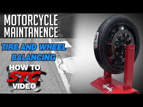 Balance A Motorcycle Tire And Wheel