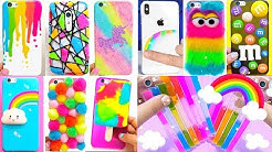 DIY Phone Cases! 10 Rainbow Phone DIY Projects & iPhone Hacks!