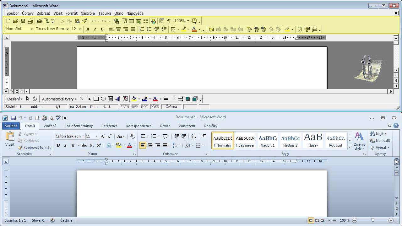 Microsoft word 2000 vs 2003