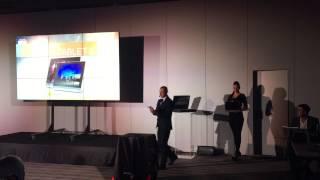 Презентация планшетов Lenovo Yoga Tablet 2 - тестовое видео iPhone 6(Это видео снято на презентации новой линейки планшетов Lenovo Yoga Tablet 2 при помощи iPhone 6. Таким образом, данное..., 2014-11-06T12:56:47.000Z)