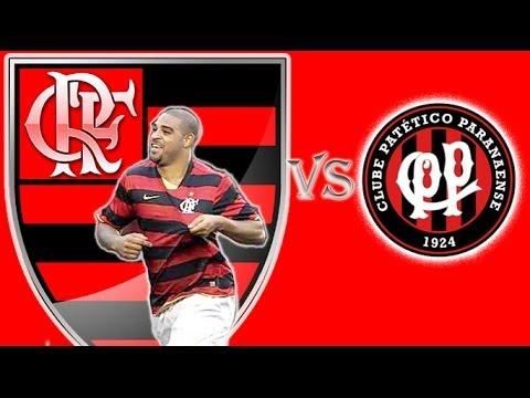 Adriano Gol # Flamengo 2 x 1 Atlético Paranaense # Reestreia em 2009