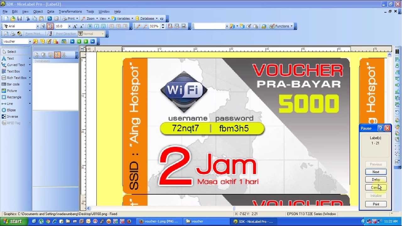 Generate dan print voucher hotspot mikrotik 2014 - YouTube